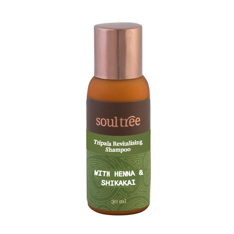 Șampon bio revitalizant cu Triphala, păr normal și gras, 30 ml - Soultree